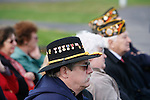 Ray Lewis, A Troop, listens during the rededication ceremony of the 1st Squadron, 9th Cavalry monument at Motts Military Museum in Groveport, Ohio.