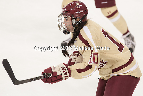 Steph Lemieux (BC - 10) - The Boston College Eagles defeated the visiting University of Maine Black Bears 5 to 1 on Sunday, October 6, 2013, in their Hockey East season opener at Kelley Rink in Conte Forum in Chestnut Hill, Massachusetts.