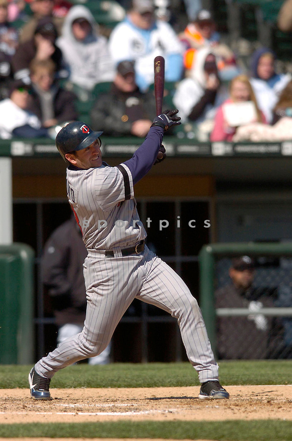 NICK PUNTO, of the Minnesota Twins, in action against the Chicago White Sox on April 8, 2007 in Chicago, IL...Twins win 3-1..CHRIS BERNACCHI/ SPORTPICS..