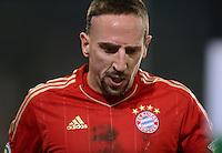 FUSSBALL   DFB POKAL   SAISON 2011/2012   HALBFINALE   21.03.2012 Borussia Moenchengladbach - FC Bayern Muenchen  Franck Ribery (FC Bayern Muenchen) nachdenklich