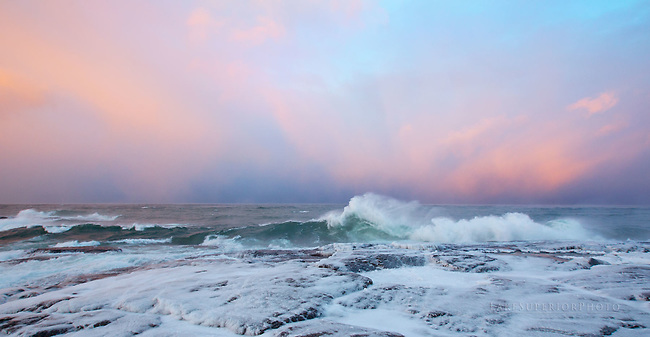 Winter pastels, Black Rocks, Presque Isle, Marquette, Mi,LakeSuperior