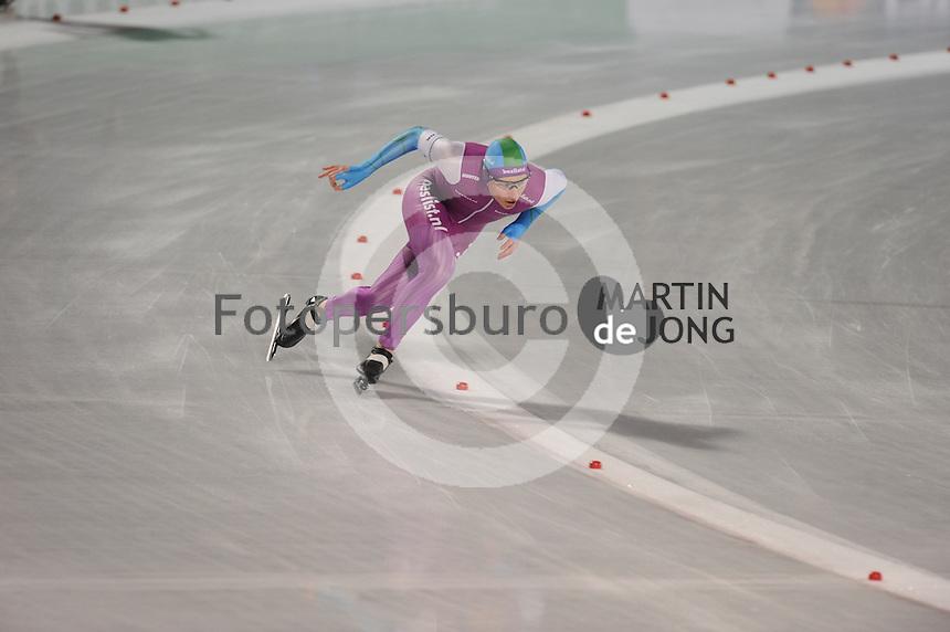 SCHAATSEN: AMSTERDAM: Olympisch Stadion, 28-02-2014, KPN NK Sprint/Allround, Coolste Baan van Nederland, Sjoerd de Vries, ©foto Martin de Jong