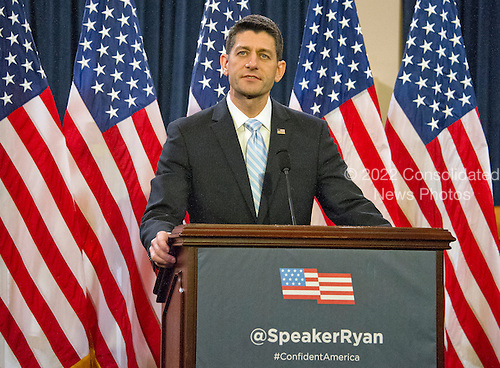 United States House Speaker Paul Ryan (Republican of Wisconsin) delivers a speech on the &quot;State of American Politics&quot; to a bipartisan group of US House interns on Capitol Hill in Washington, DC on Wednesday, March 23, 2016.  In his remarks the Speaker said &quot;Politics can be about a battle of ideas, not insults.  It can be about solutions.  It can be about making a difference.&quot; <br /> Credit: Ron Sachs / CNP