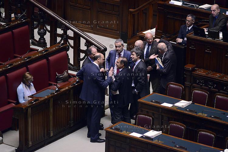 Roma, 10 Marzo 2015<br /> La Camera dei Deputati vota si alle Riforme della Costituzione.<br /> Angelino Alfano e Ignazio La Russa