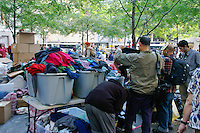 Free clothes given at the Occupy Wall Street Protest in New York City October 6, 2011.