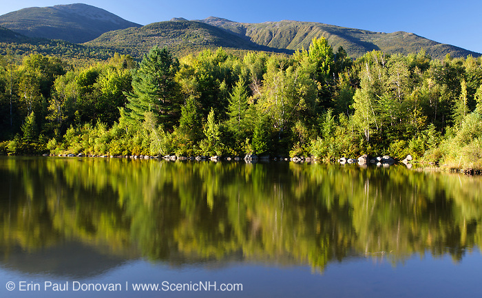 King Ravine from Durand Lake in Randolph, New Hampshire USA during the summer months.