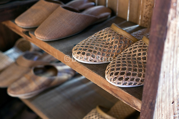 slippers closet by entrance for changing footwear Japan