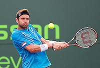 Mardy FISH (USA) against Feliciano LOPEZ (ESP) in the third round of the men's singles. Mardy Fish beat Feliciano Lopez 7-5 6-3..International Tennis - 2010 ATP World Tour - Sony Ericsson Open - Crandon Park Tennis Center - Key Biscayne - Miami - Florida - USA - Mon 29th Mar 2010..© Frey - Amn Images, Level 1, Barry House, 20-22 Worple Road, London, SW19 4DH, UK .Tel - +44 20 8947 0100.Fax -+44 20 8947 0117