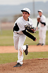 Vale's Branden Holloway pitches against New Plymouth at Vale High School's Cammann Field on April 28, 2011. Holloway pitched a complete game, seven inning, eight hitter in Vale's 8-3 win.