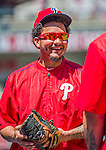 23 May 2015: Philadelphia Phillies shortstop Freddy Galvis prepares for batting practice prior to a game against the Washington Nationals at Nationals Park in Washington, DC. The Phillies defeated the Nationals 8-1 in the second game of their 3-game weekend series. Mandatory Credit: Ed Wolfstein Photo *** RAW (NEF) Image File Available ***