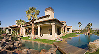 Large luxury residence with opulent pool area