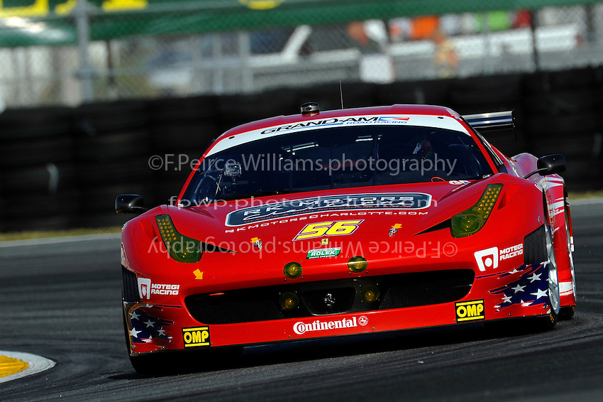 #56 AF-Waltrip Ferrari 458 of Robert Kauffman, Michael Waltrip, Travis Pastrana & Rui Aguas