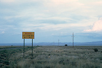 Highway sign in New Mexico