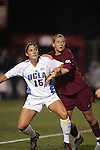 UCLA's Kara Lang and FSU's Viola Odebrecht. The UCLA Bruins defeated the Florida State University Seminoles 4-0 at Aggie Soccer Stadium in College Station, Texas, Friday, December 2, 2005.
