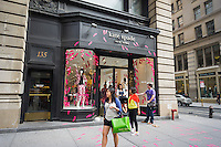 A Kate Spade store on Fifth Avenue, decorated in pink two and three dimensional high heel shoes, in the Flatiron neighborhood of New York on Saturday, August 2, 2014. Kate Spade is owned by Fifth & Pacific, formerly Liz Claiborne. (© Richard B. Levine)