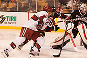 Alexander Kerfoot (Harvard - 14), Garret Cockerill (NU - 14) - The Harvard University Crimson defeated the Northeastern University Huskies 4-3 in the opening game of the 2017 Beanpot on Monday, February 6, 2017, at TD Garden in Boston, Massachusetts.
