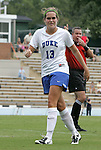 30 August 2009: Duke's KayAnne Gummersall. The Duke University Blue Devils lost 3-2 to the University of Central Florida Knights at Fetzer Field in Chapel Hill, North Carolina in an NCAA Division I Women's college soccer game.