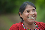 Teresa Diaz smiles during a workshop at an eco-agricultural training center in Comitancillo, Guatemala. The center is sponsored by the Maya Mam Association for Investigation and Development (AMMID).