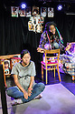"Edinburgh, UK. 05.08.2016. Clean Break theatre company presents ""Amongst the Reeds"", by Chino Odimba, directed by Roisin McBrinn, at Assembly Box, as part of the Edinburgh Festival Fringe. Picture shows: Jan Le (Gillian), Rebecca Omogbehin (Oni).  Photograph © Jane Hobson."