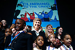 """""""Climbing to the Crest"""" a documentary about the opening of the United Federation of Teachers Elementary Charter School was premiered at the Tribeca Film Festival. Noted politicians were on hand to show their support for the project and groundbreaking moment for the NY public school system. Special guest Senator Hillary Rodham Clinton posed and signed autographs for the stars of the film, the students of the new school."""