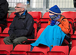 St Johnstone v Dundee....11.04.15   SPFL<br /> Spring in Perth....A saints fan all wrapped up against the bitter cold<br /> Picture by Graeme Hart.<br /> Copyright Perthshire Picture Agency<br /> Tel: 01738 623350  Mobile: 07990 594431