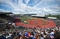EUGENE, OR - June 24, 2012: The USA Track and Field Olympic Team Trials at Hayward Field in Eugene, Oregon on June 22, 2012.