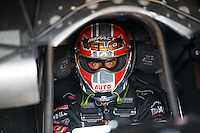 Sep 23, 2016; Madison, IL, USA; NHRA funny car driver Brandon Welch during qualifying for the Midwest Nationals at Gateway Motorsports Park. Mandatory Credit: Mark J. Rebilas-USA TODAY Sports