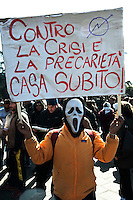 Roma 23 febbraio 2011.Manifestazione contro i Stati Generali del Comune di Roma organizzato dal Comitato Roma Bene Comune..Rome 23 February 2011.Demonstration against the States-General of the Municipality of Rome organized by the Committee Rome Common Good.