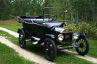 Model T on Country road