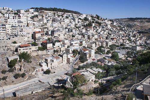 Quartier de Silwan, Jerusalem, Juin 2011.