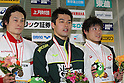 (L to R) .Ryo Takayasu, .Hiroki Kato, .Yoshinori Muramatsu, .FEBRUARY 11, 2012 - Swimming : .The 53rd Japan Swimming Championships (25m) .Men's 50m Butterfly Victory Ceremony .at Tatsumi International Swimming Pool, Tokyo, Japan. .(Photo by YUTAKA/AFLO SPORT) [1040] .