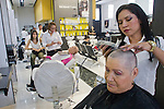 Fanny Gomez is shaved before obtaining her new wig during a donation ceremony as a commitment to actively fight against cancer in Medellin, Colombia, May 25, 2012.  Colombia celebrated on 31 January, 7, 14 and 21 February some days of donating hair in Beauty Centres Fundayama ALQVIMIA and foundation (Foundation for support and support people with breast cancer), it received 300 donations of hair with which they made 200 wigs  Photo by Fredy Amariles/View