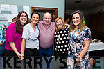 Theresa  O'Carroll, Niamh O'Carroll, Pat O'Carroll,  Bernie O'Carroll, and Jennifer O Carroll, enjoying Pat's 60th Birthday in Na Gael Club House on Saturday