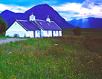 Black Rock Cottage Scottish Highlands, Glencoe Scotland, United Kingdom Evening