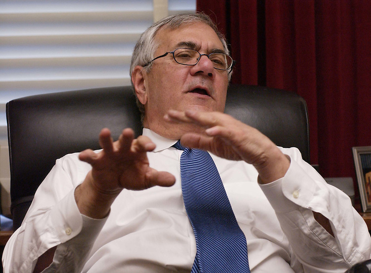 3/23/04.Rep. Barney Frank, D-Mass., during an interview in his office..CONGRESSIONAL QUARTERLY PHOTO BY SCOTT J. FERRELL