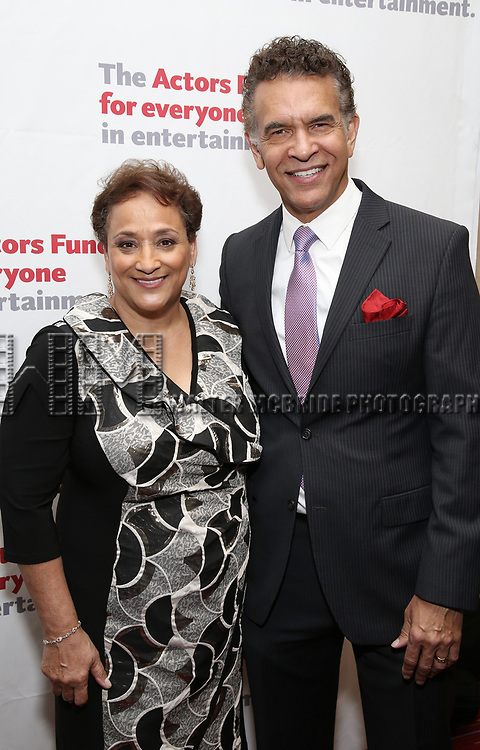 Jo Ann Jenkins and Brian Stokes Mitchell attend The Actors Fund Annual Gala at the Marriott Marquis on 5/8//2017 in New York City.