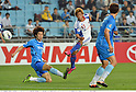 Lee Jae-Sung (Ulsan), Hiroki Kawano (FC Tokyo),.MAY 16, 2012 - Football / Soccer :.AFC Champions League Group F match between Ulsan Hyundai FC 1-0 F.C.Tokyo at Ulsan Munsu Football Stadium in Ulsan, South Korea. (Photo by Takamoto Tokuhara/AFLO)