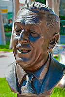 Walt Disney, Academy of Television Arts & Sciences, Celebrity, Bronze, Sculptures, Sculptural Works, Public Art, Display, North Hollywood, CA