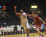 "Ole Miss' Nikki Byrd (22) vs. Arkansas in a women's college basketball game at C.M. ""Tad"" Smith Coliseum in Oxford, Miss. on Thursday, February 17, 2011. Arkansas won 56-53."