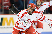 Matt Nieto (BU - 17) - The visiting Boston College Eagles defeated the Boston University Terriers 3-2 to sweep their Hockey East series on Friday, January 21, 2011, at Agganis Arena in Boston, Massachusetts.