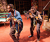 Liberian Girl <br /> at the Royal Court Theatre, London, Great Britain <br /> press photocall<br /> 9th January 2015 <br /> <br /> <br /> <br /> Michael Ajao as Double Trouble<br /> <br /> Valentine Olukoga as Killer<br /> <br /> <br /> <br /> <br /> <br /> <br /> <br /> Photograph by Elliott Franks <br /> Image licensed to Elliott Franks Photography Services