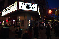 People walk next to the Tribeca Cinemas at  the opening of the Colombian Film Festival in New York . Photo by  VIEWpress.