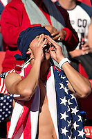 USA fans in the stands before the game against Slovenia