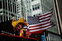 USA, New York, Nov 28, 2013. A woman in customs attends the 87th Macy's Thanksgiving Day Parade in New York City. Photo by VIEWpress/Eduardo Munoz Alvarez