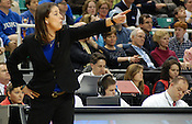 Duke head coach Joanne P. McCallie guides her team. (Photo by Rob Rowe)