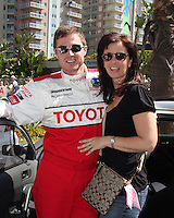 Eric &amp; Keri Close  at the  Toyota Pro/Celeb Race Day on April 18 ,2009 at the Long Beach Grand Prix course in Long Beach, California..&copy;2009 Kathy Hutchins / Hutchins Photo....                .
