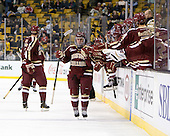 Steven Whitney (BC - 21) - The Boston College Eagles defeated the Harvard University Crimson 4-1 in the opening round of the 2013 Beanpot tournament on Monday, February 4, 2013, at TD Garden in Boston, Massachusetts.