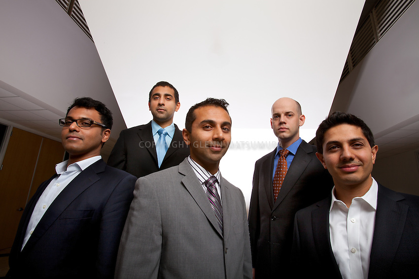 Counsyl founders: (L-R) Balaji K. Srinivasan, Balaji S. Srinivasan, Ramji Srivivasan, Eric A. Evans, Rishi Kacker. Stanford graduates. Counsyl does genetic testing for diseases. They developed a safe, non-invasive medical test to screen for dozens of serious diseases like cystic fibrosis, SMA, sickle cell, and Tay-Sachs.
