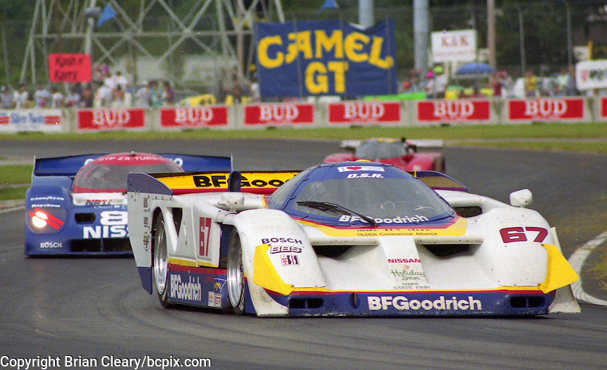 The #67 Seabroke Nissan GTP ZX-T of  John Paul Jr.  races to a 3rd place finish in the Nissan World Challenge of Tampa,  Florida State Fairgrounds, September 1990. (Photo by Brian Cleary/www.bcpix.com)