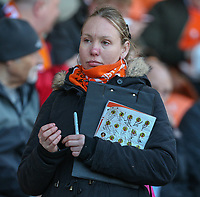 A Blackpool fan waits for autographs<br /> <br /> Photographer Alex Dodd/CameraSport<br /> <br /> The EFL Sky Bet League Two - Blackpool v Cheltenham Town - Saturday 22nd April 2017 - Bloomfield Road - Blackpool<br /> <br /> World Copyright &copy; 2017 CameraSport. All rights reserved. 43 Linden Ave. Countesthorpe. Leicester. England. LE8 5PG - Tel: +44 (0) 116 277 4147 - admin@camerasport.com - www.camerasport.com